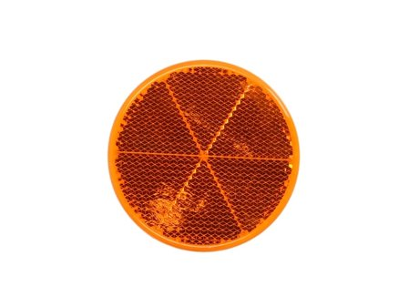 8RA002 014-301 Рефлектор [HELLA]  Reflective light (orange, self-adhesive, diameter: 60mm)